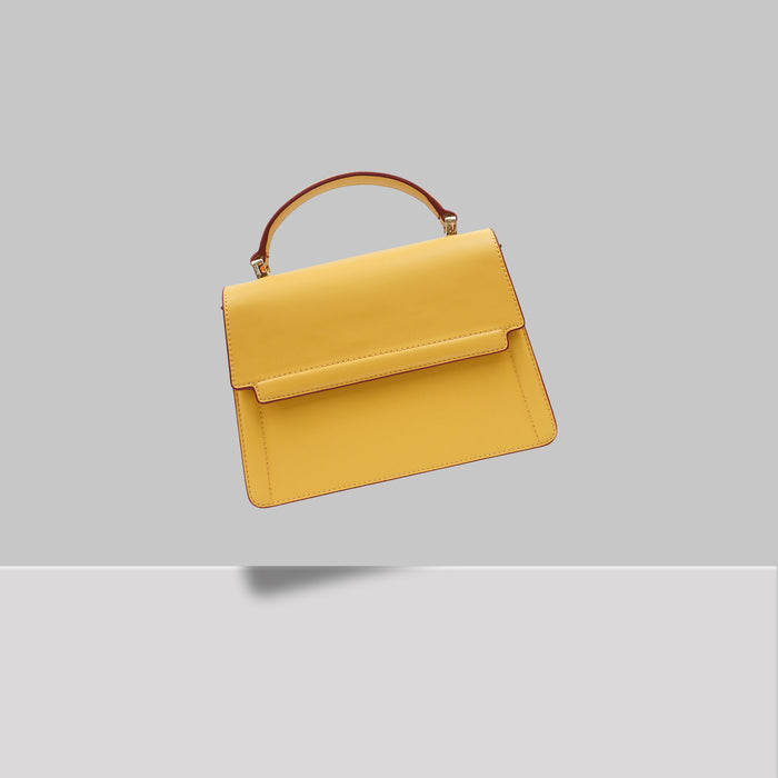 DOWNTOWN MINI SATCHEL YELLOW