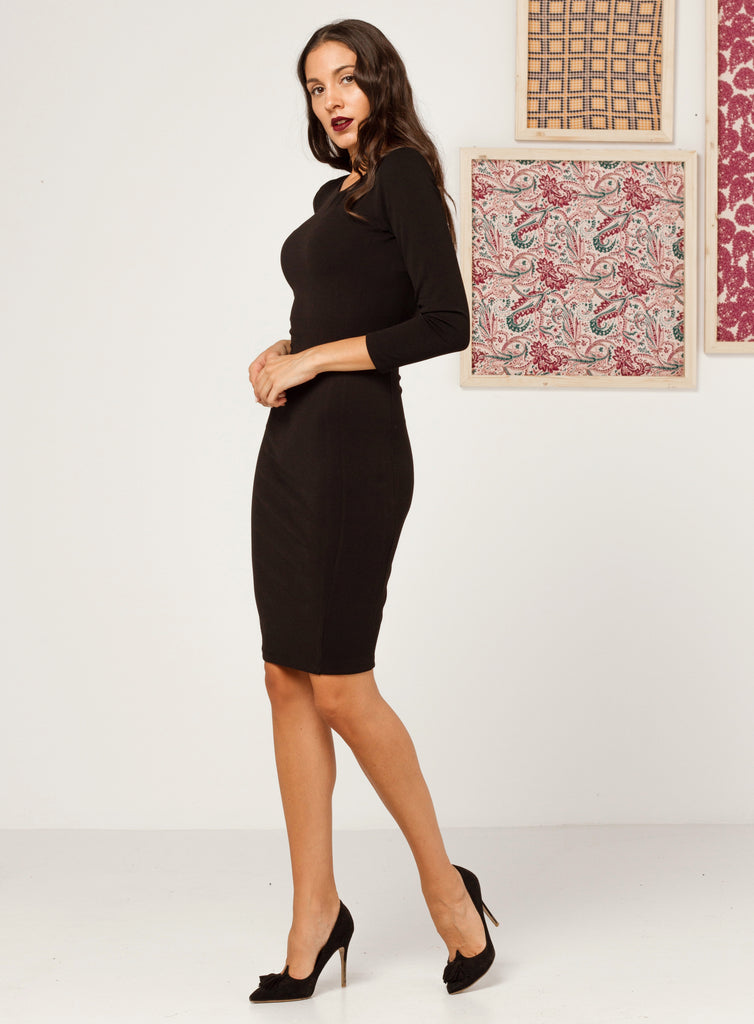 Black Cutout Midi Dress - Missworldlondon