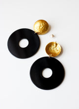 Black and Gold Statement Earrings - Missworldlondon