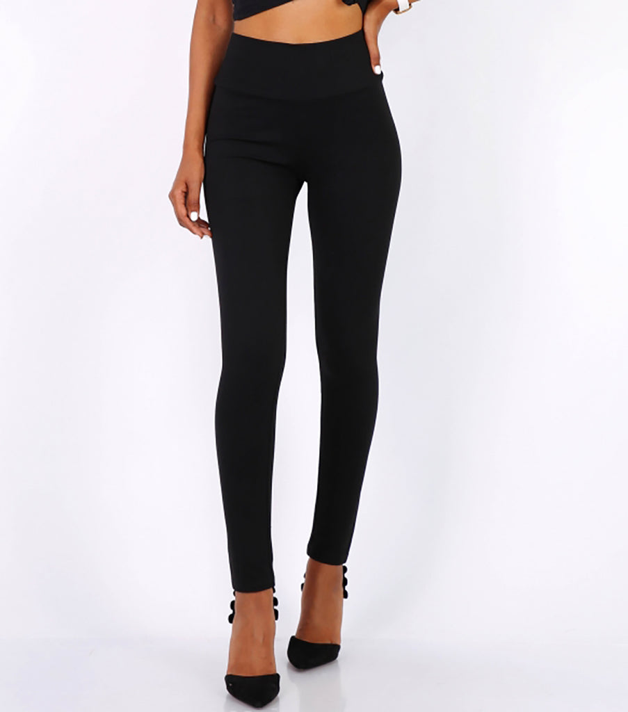 High Waisted Leggings in Black - Missworldlondon
