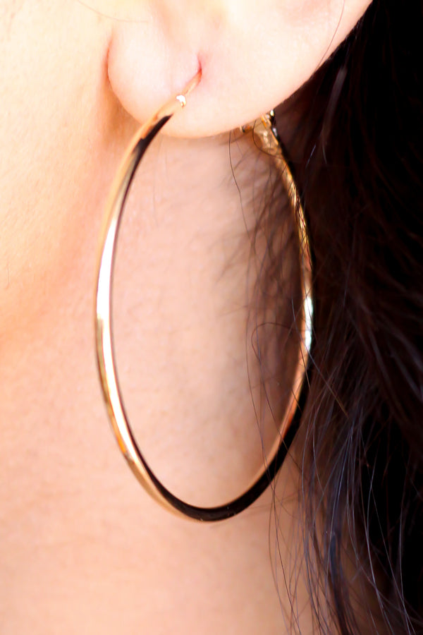 Gold Large Hoop Earrings - Missworldlondon