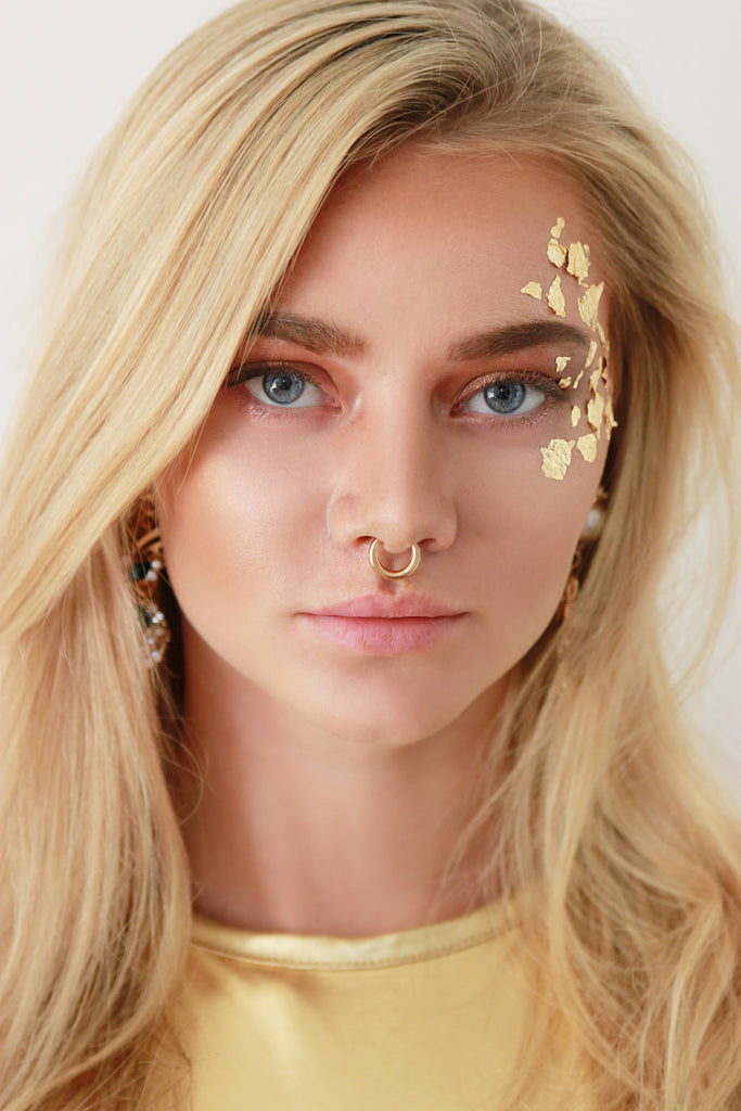 Gold Hoop Septum Nose Ring - Missworldlondon