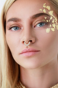 Gold Moon Hoop Septum Nose Ring - Missworldlondon
