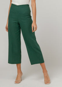 Green Culotte Trousers - Missworldlondon