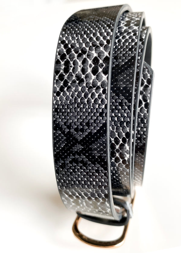 Snake Skin Belt in Black and White