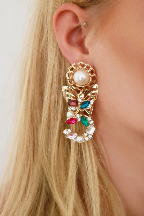 Vintage Style Statement Colour Pop Earrings - Missworldlondon