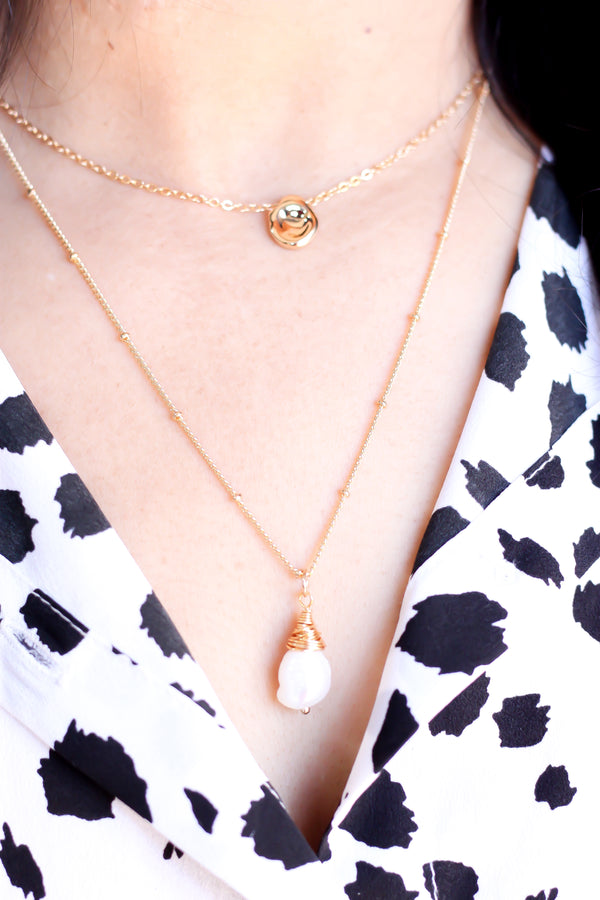 Layered Pearl Necklace - Missworldlondon