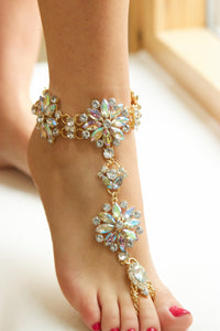 Iridescence Gem Indian Bling Anklet/ Bracelet - Missworldlondon