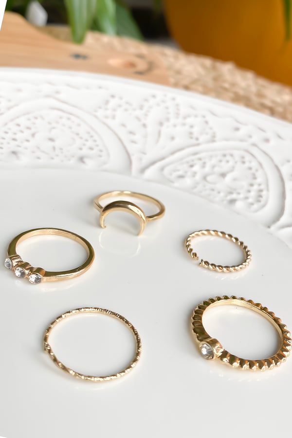 Crescent Ring Set - Missworldlondon