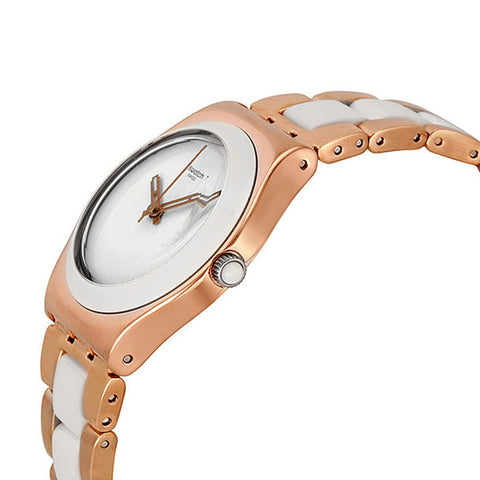 Swatch Ladies Rose Pearl Watch YLG121G