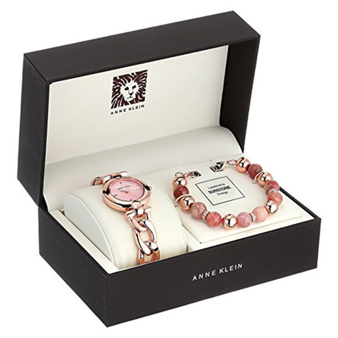 Anne Klein Ladies Watch and Bracelet Set AK/2836SUNS