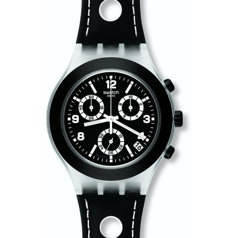 Swatch Mens Black Cup Chronograph Watch SVCK4072