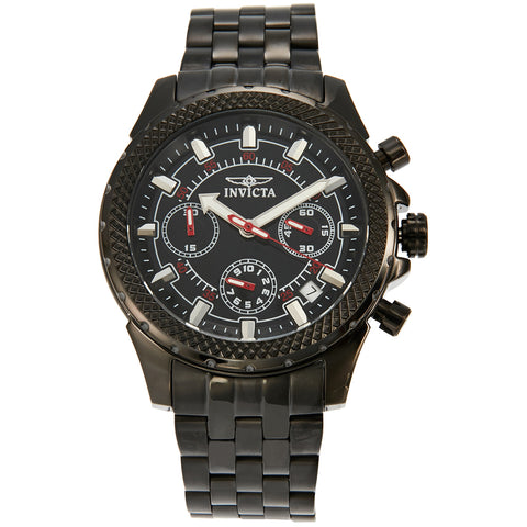 Invicta Signature Chronograph Black Dial Mens Watch 7097S