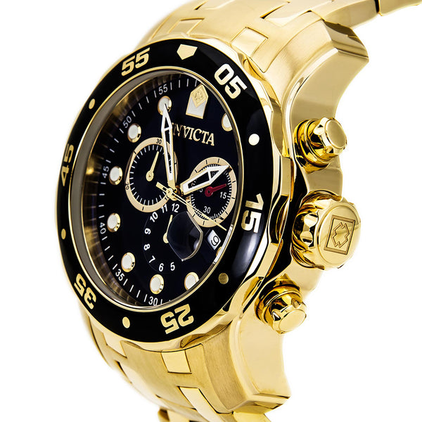 Invicta  Pro Diver 0072  Stainless Steel Chronograph  Watch