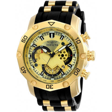 Invicta  Pro Diver 23427  Silicone, Stainless Steel Chronograph  Watch
