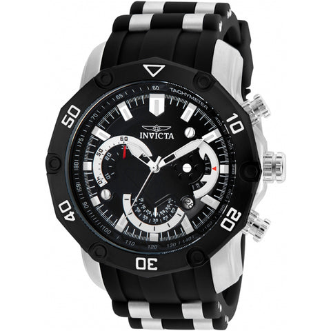 Invicta  Pro Diver 22797  Silicone, Stainless Steel Chronograph  Watch