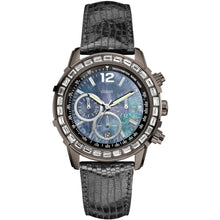 Guess Ladies Black Leather Watch W0017L3