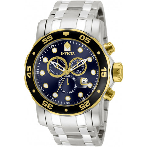 Invicta  Pro Diver 80041  Stainless Steel Chronograph  Watch