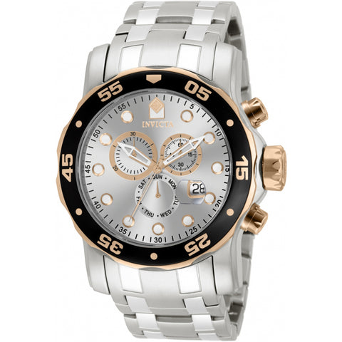 Invicta  Pro Diver 80037  Stainless Steel Chronograph  Watch