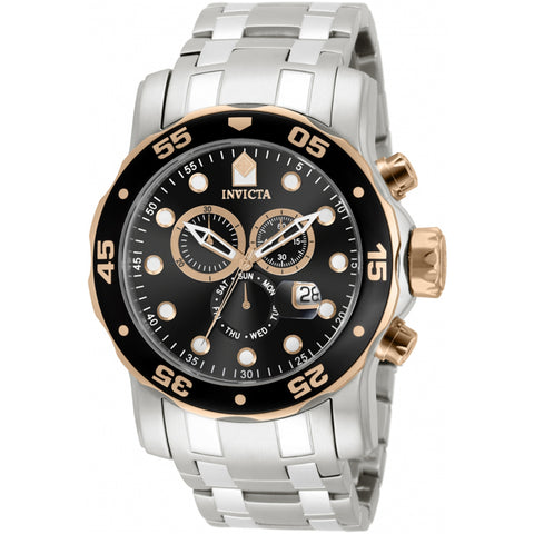 Invicta  Pro Diver 80036  Stainless Steel Chronograph  Watch