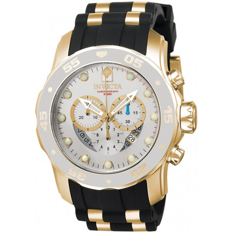 Invicta  Pro Diver 6985  Silicone, Stainless Steel Chronograph  Watch