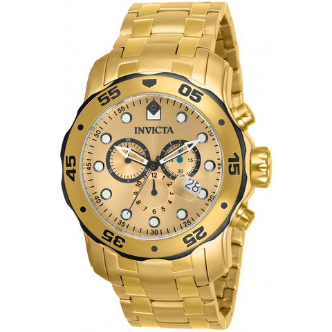 Invicta  Pro Diver 80070  Stainless Steel Chronograph  Watch