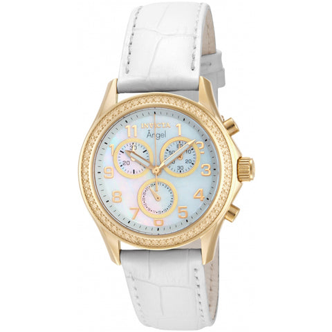 Invicta  Angel 12990  Leather Chronograph  Watch