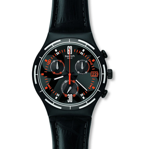 Swatch Men's Eruption Chronograph Watch YCB4023