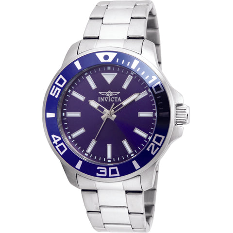 Invicta Men's 'Pro Diver' Quartz Stainless Steel Watch, Color:Silver-Toned