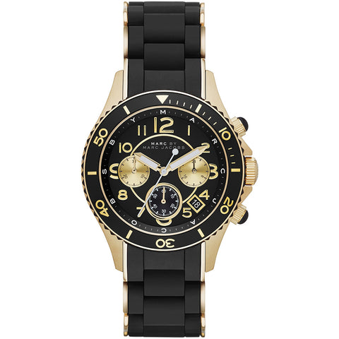 Marc by Marc Jacobs Unisex Black Rock Chronograph Watch MBM2598