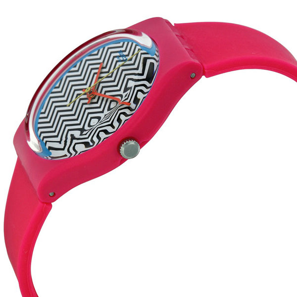 Swatch Unisex Pink Fuzz Watch GP142