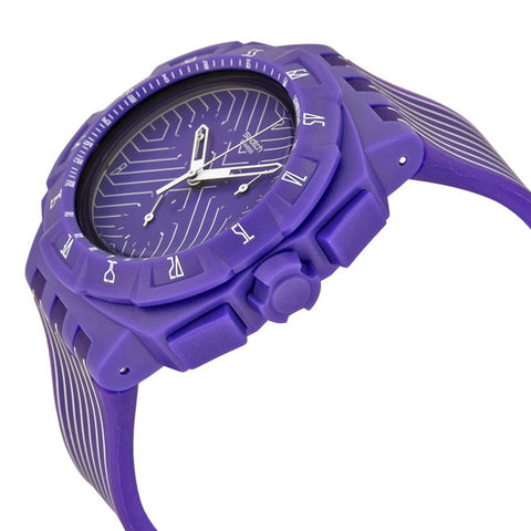 Swatch Men's Purple Run Chronograph Watch SUIV401