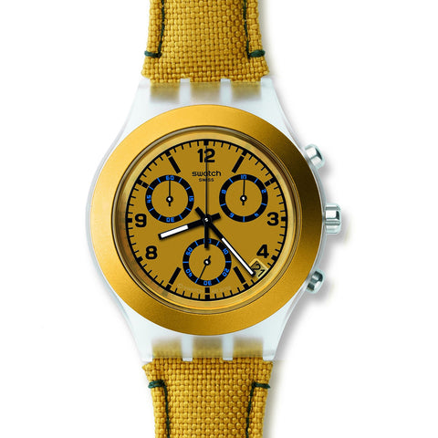 Swatch Men's Mustardy Chronograph Watch SVCK4069