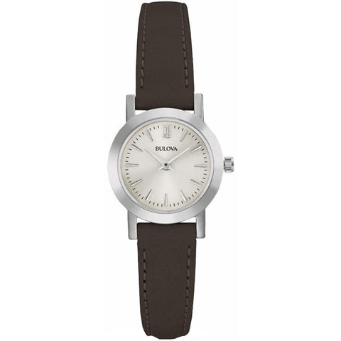 Bulova Ladies' Brown Leather Watch 96L210