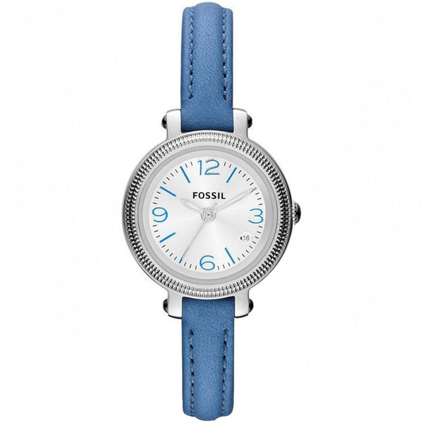 Fossil Ladies' Blue Leather Heather Watch ES3304 - 1820 Watches
