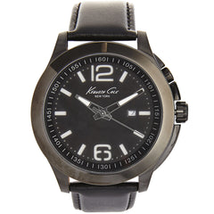 Kenneth Cole Men's Black Leather Watch 10022558