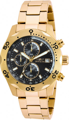 Invicta Men's Specialty 17751 Gold Stainless Steel Chronograph Watch