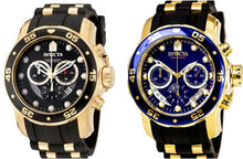 Invicta Men's Pro Diver Stainless Steel, Silicome Chronograph Watch 6981 / 6983