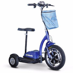EW-18 Stand & Ride-Scooter-E-Wheels-Blue-Gerimart.com