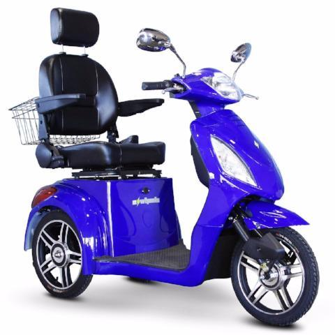 EW-36 Recreational Scooter-Scooter-E-Wheels-Blue-Standard-Gerimart.com