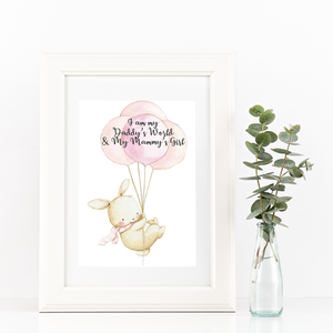 UNFRAMED Nursery Print I'm My Daddy's World