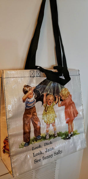Dick & Jane Shopping Tote Recycled Material Reusable