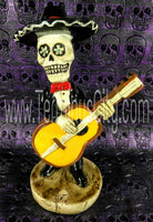 Day Of The Dead Guitar Mariachi Figure