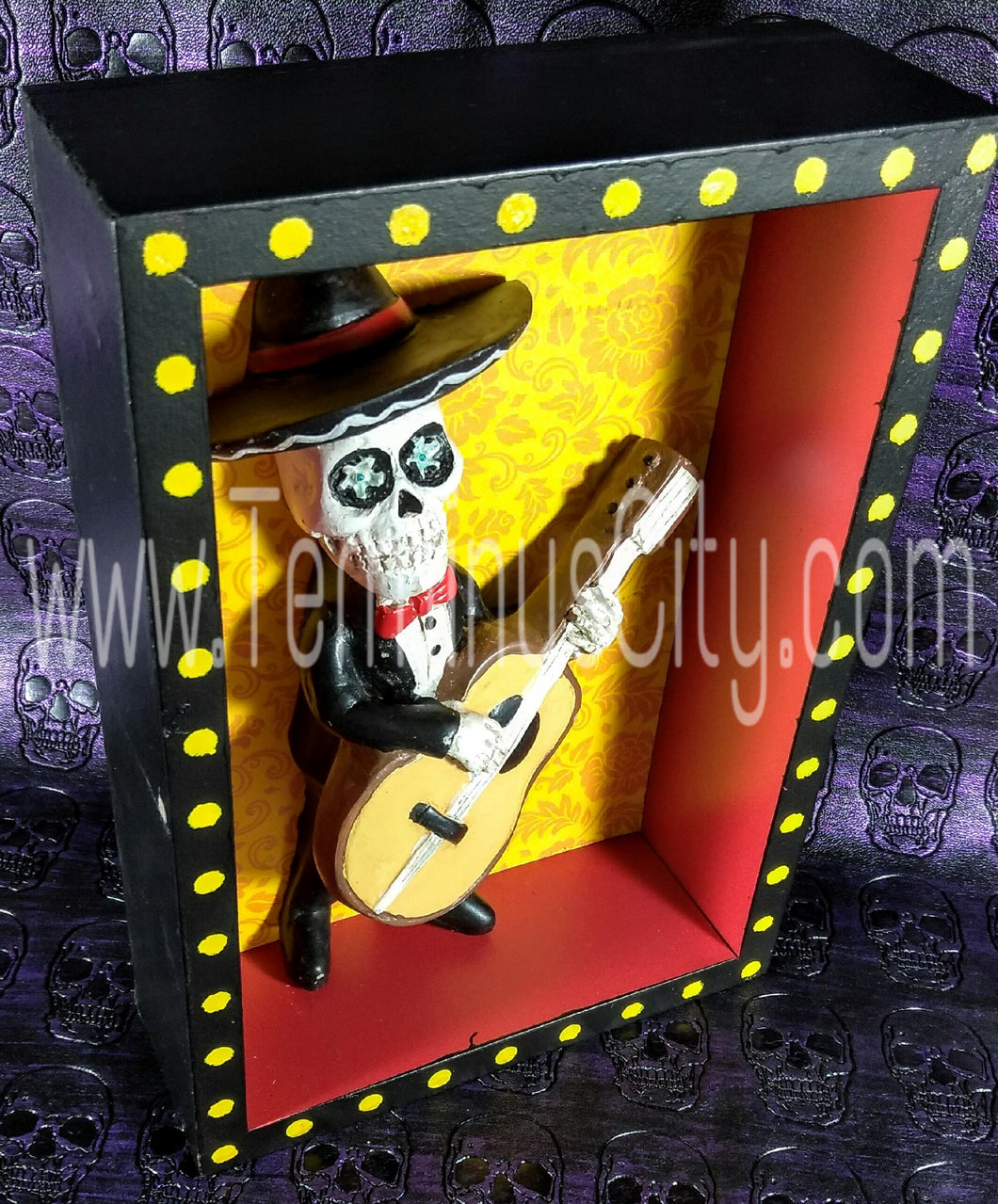 Day Of The Dead Shadow Box - Mariachi – Terminus City ~ Gifts That Rock