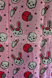 Zombie Bunny Shower Curtain