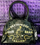 Death Banner Skeleton Bowling Handbag Purse