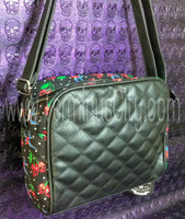 Cherry Skulls Quilted Handbag