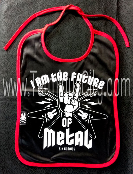 Six Bunnies Baby Bib - The Future Of Metal