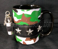 Camouflage Mug With Mini Flask {Gave Motorhead's Lemmy one & he loved it!}