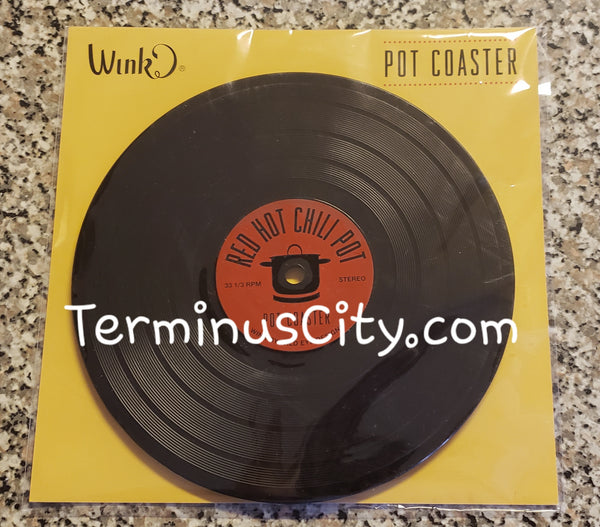 Large Record Red Hot Chili Pot Trivet Coaster